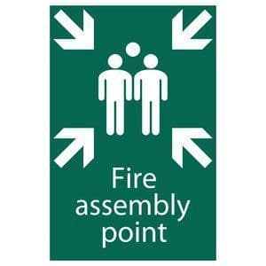 DRAPER 'Fire Assembly Point' Safety Sign